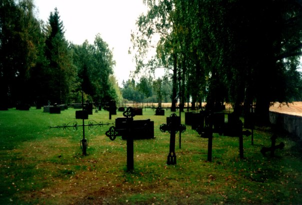 Romnes Kirke - deler av kirkegården på sydsiden